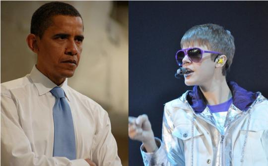 bieber versus obama