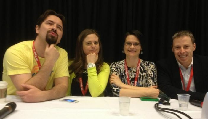 Social Slam panel with Dino Dogan, Dawn DeVirgilio, Jennifer Kane and Ian Cleary in his American speaking debut.