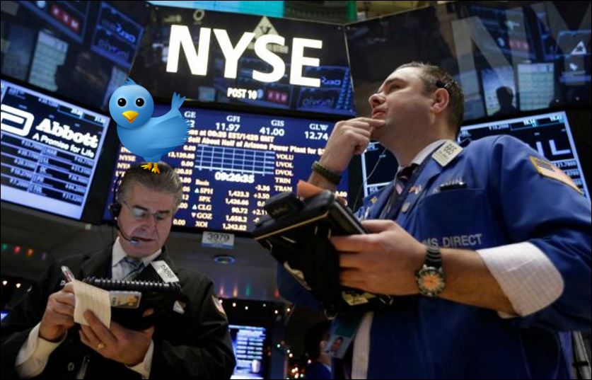 twitter and NYSE