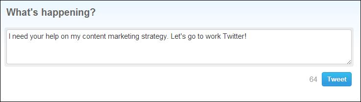 twitter and content marketing