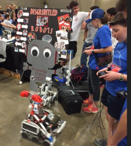 Kids compete in their homemade robot contest