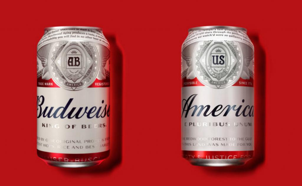 budweiser re-branding
