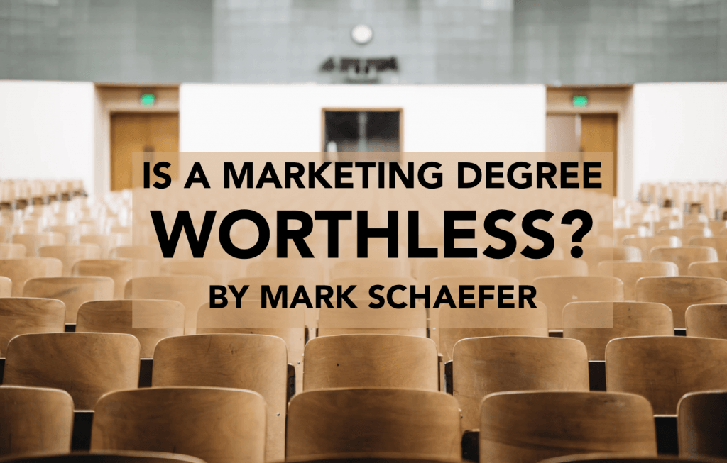 marketing degree worthless