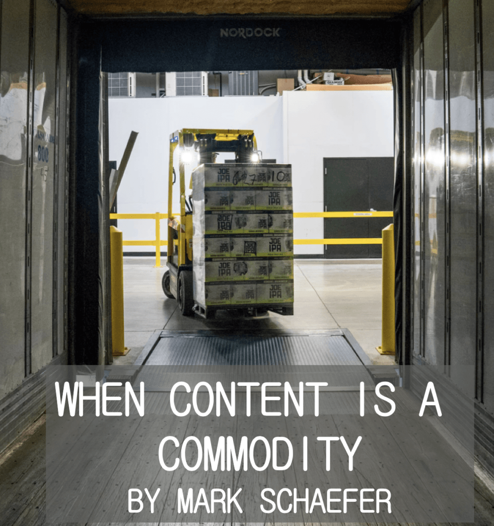 content becomes a commodity
