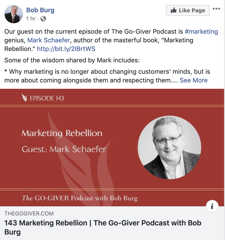 book marketing bob burg