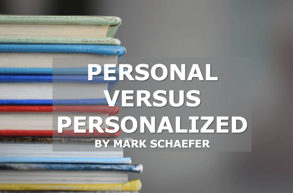 personalized versus personal