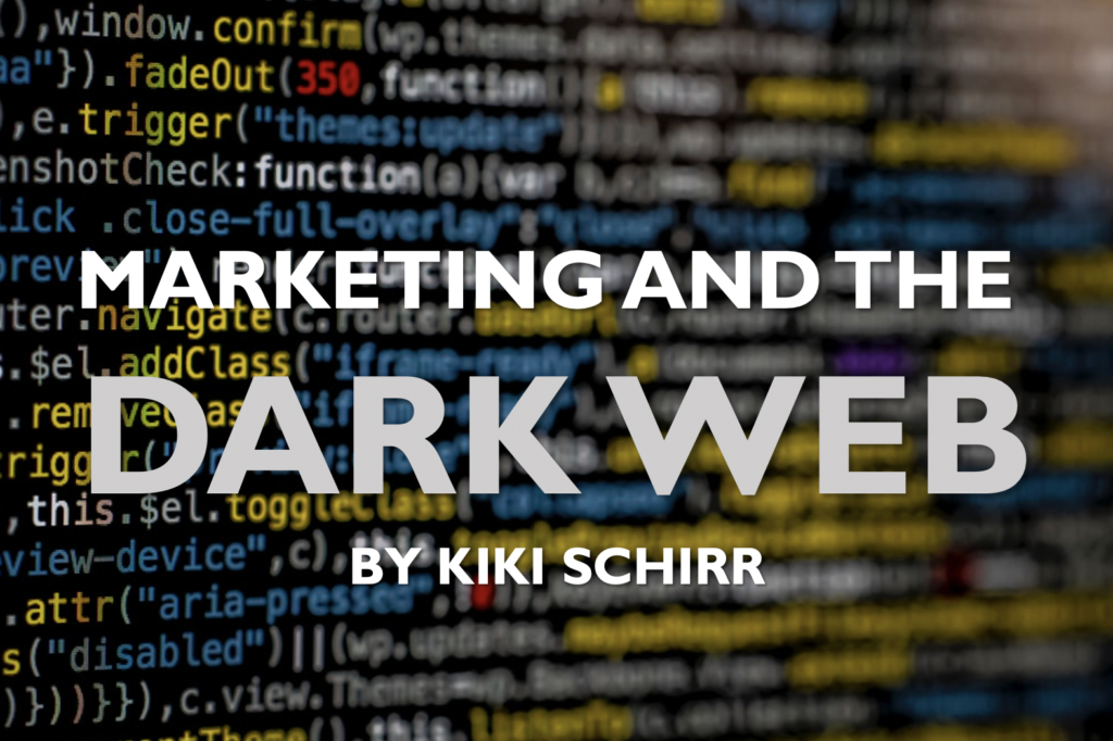 marketing and the dark web