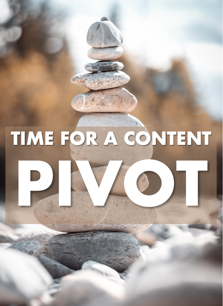 Pivoting my content strategy